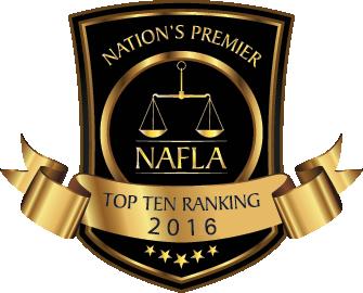 NAFLA Top 10 Ranking Attorney